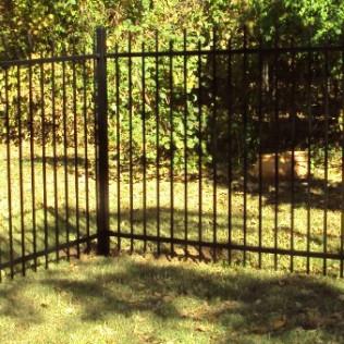 2-Rail Ornamental Iron Fence Oklahoma City