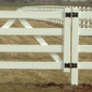 4 Rail Double Vinyl Gate